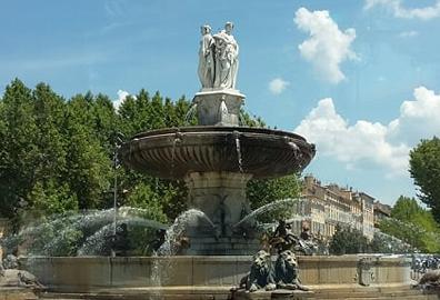 Fontaine cours MIrabeau Aix